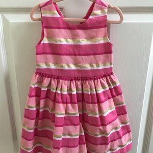 Gymboree Easter Dress Pink Striped Dress 2T